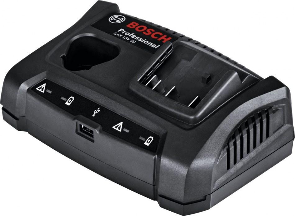 10195Зарядное устройство BOSCH GAX 18V-30 (10.8 - 18.0 с  USB)